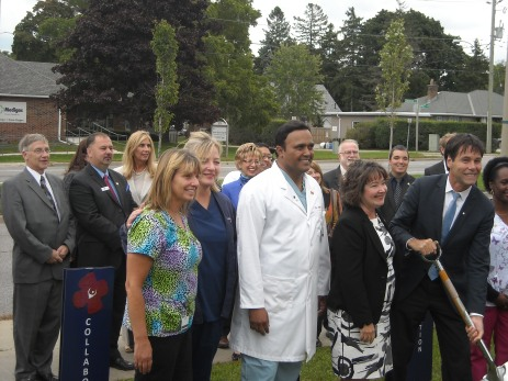 Minister of Health helps break the ground for the Cambridge Memorial Hospital